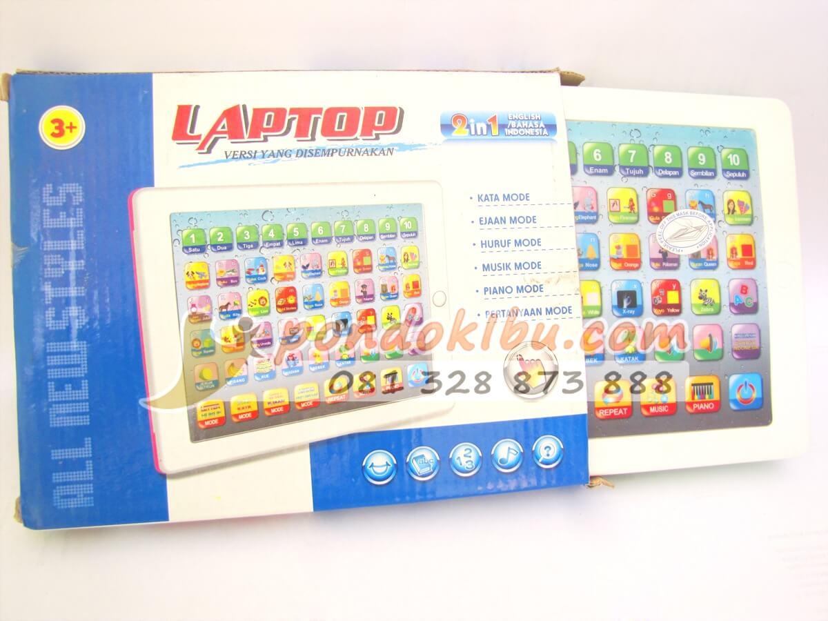 Laptop Mainan Anak 2 Bahasa