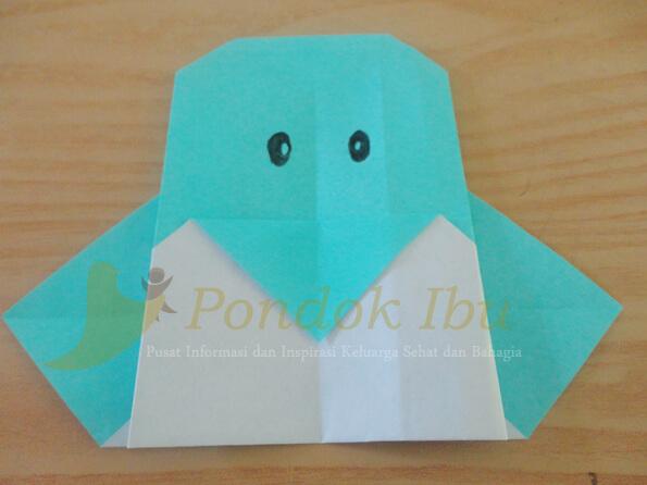 membuat origami pinguin
