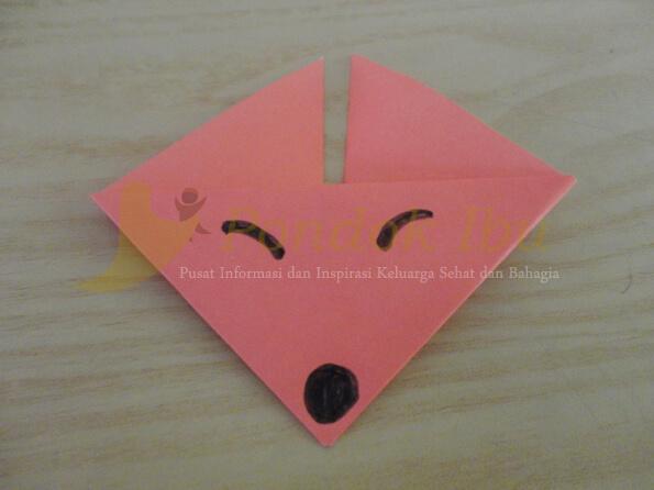 membuat origami wajah serigala