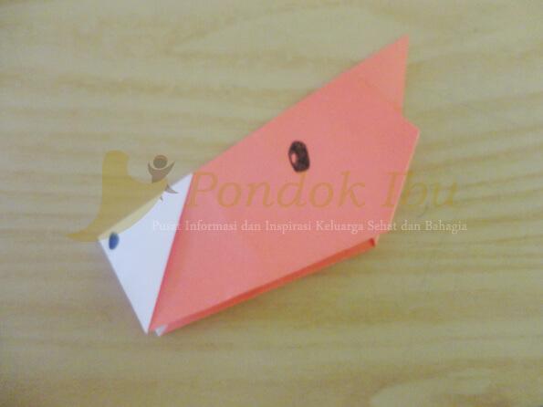 membuat origami wajah kuda