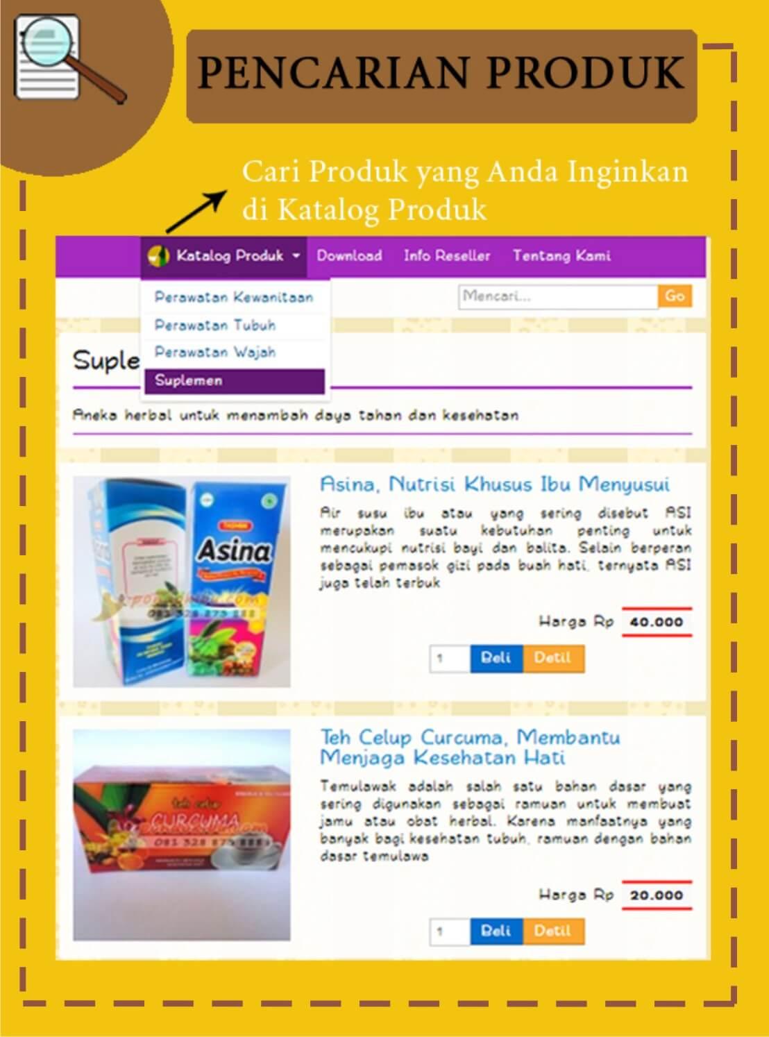 Mencari Produk Herbal di PondokIbu