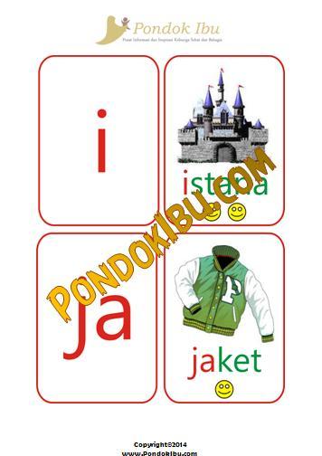 Kartu Pintar Membaca Huruf I-J