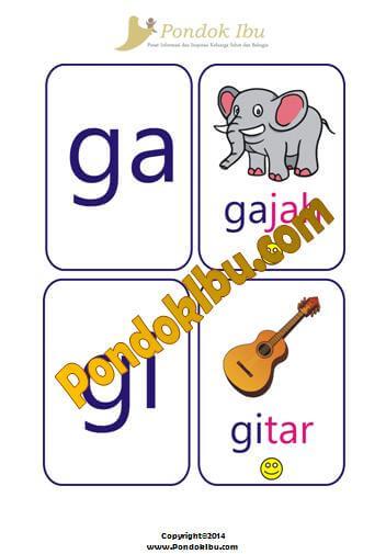 kartu pintarmembaca huruf G-H